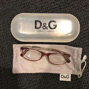Dolce & Gabbana Brown and Clear Eyeglasses 🤓